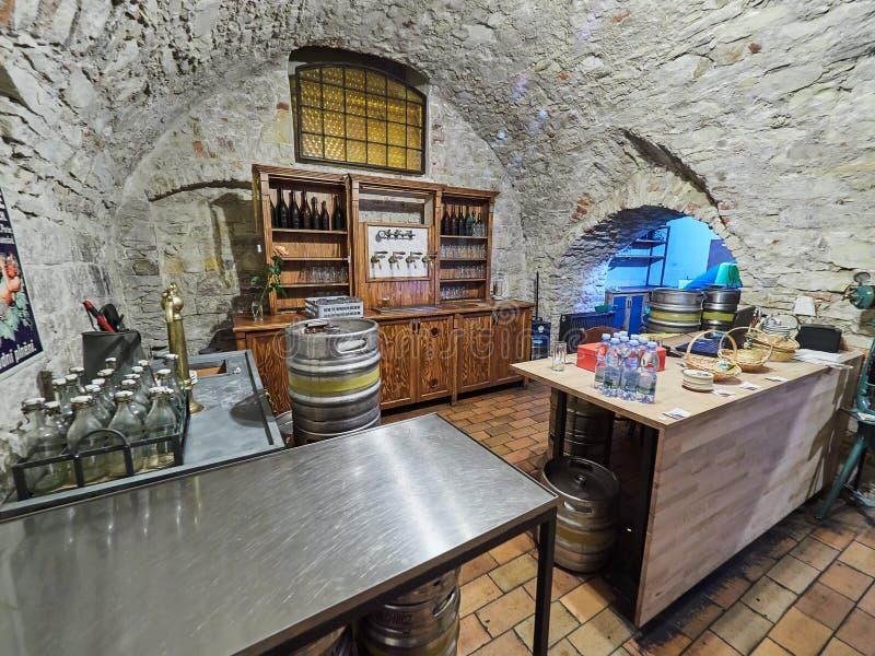 PRAGUE, RÉPUBLIQUE TCHÈQUE - 6 SEPTEMBRE 2017 Musée de bière, Prague, République Tchèque photo stock