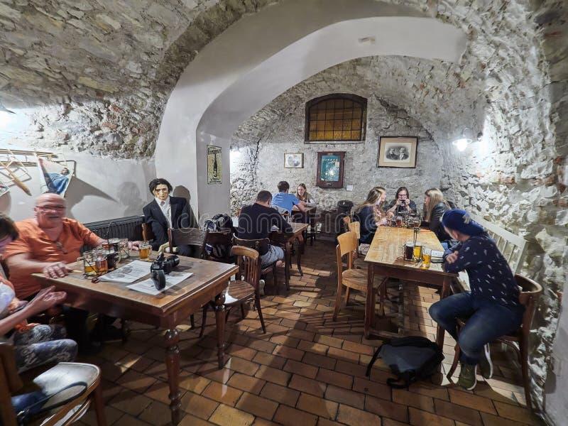 PRAGUE, RÉPUBLIQUE TCHÈQUE - 6 SEPTEMBRE 2017 Musée de bière, Prague, République Tchèque photographie stock