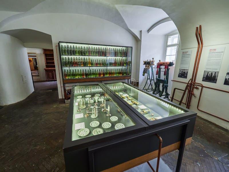 PRAGUE, RÉPUBLIQUE TCHÈQUE - 6 SEPTEMBRE 2017 Musée de bière, Prague, République Tchèque images stock