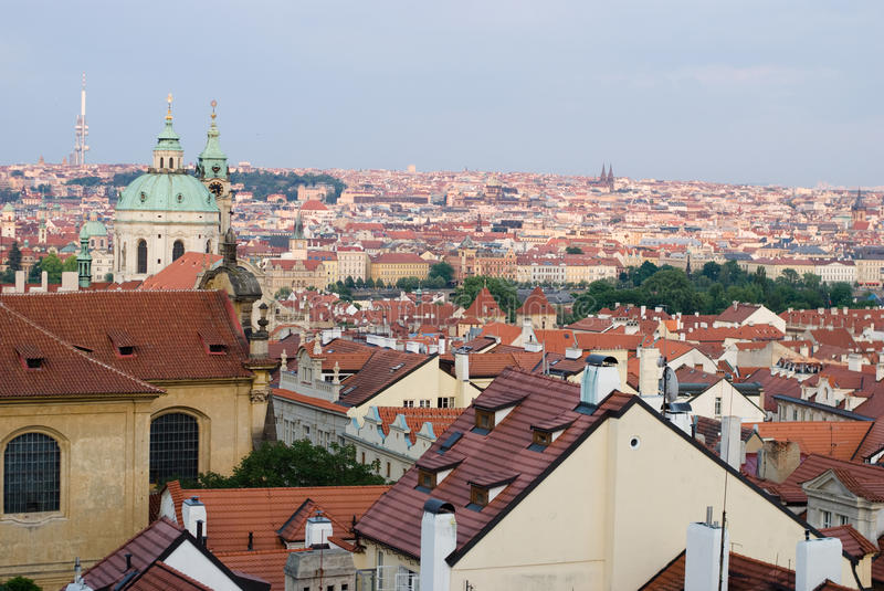 Download Prague roofs stock image. Image of europe, geometric - 25306645