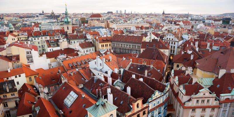 Prague roofs stock image