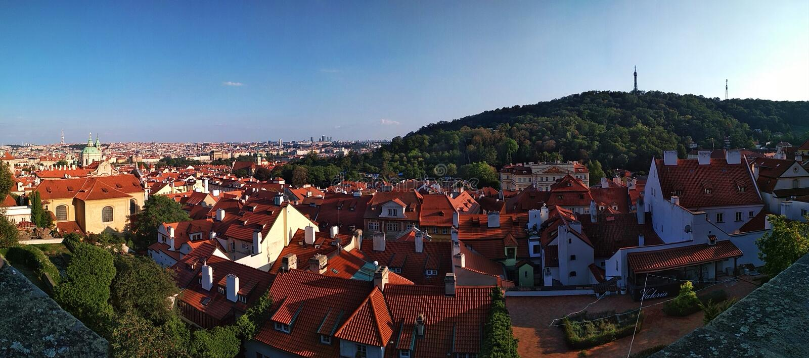 Prague. Roofs of the old town. royalty free stock photography