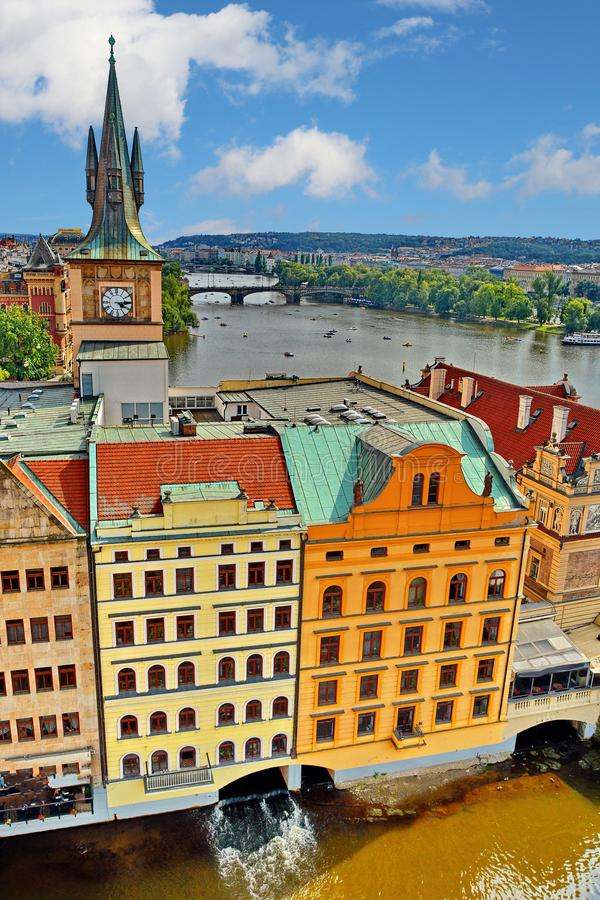 Prague. Cityscape of old Prague, Czech Republic stock image