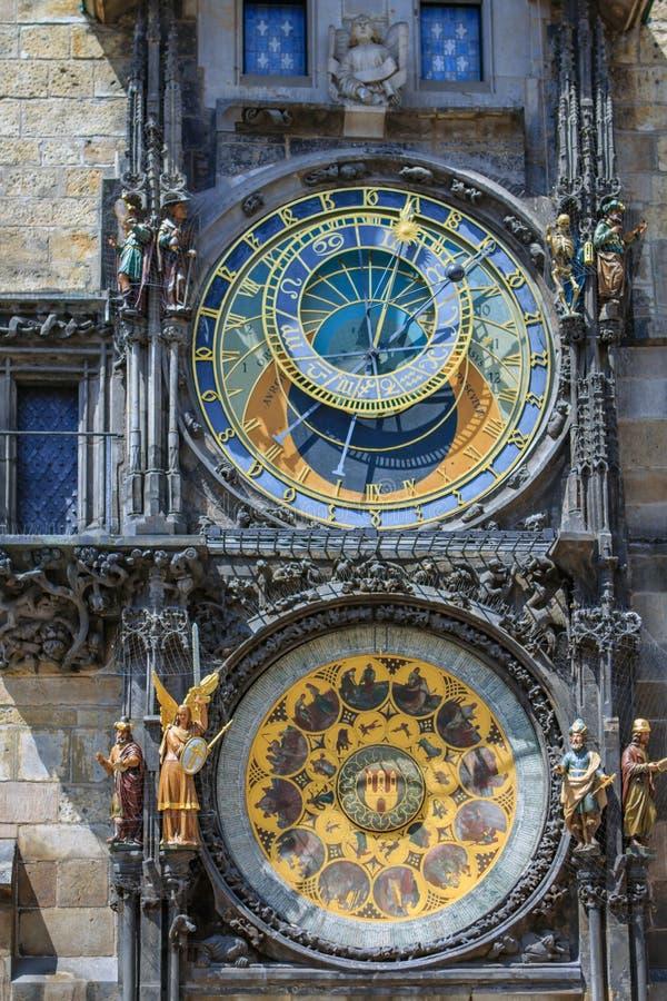 Astronomical clock in Prague, Czech Republic. stock photo
