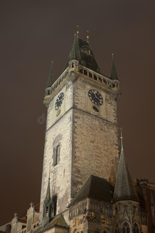 Prague's towers royalty free stock photography