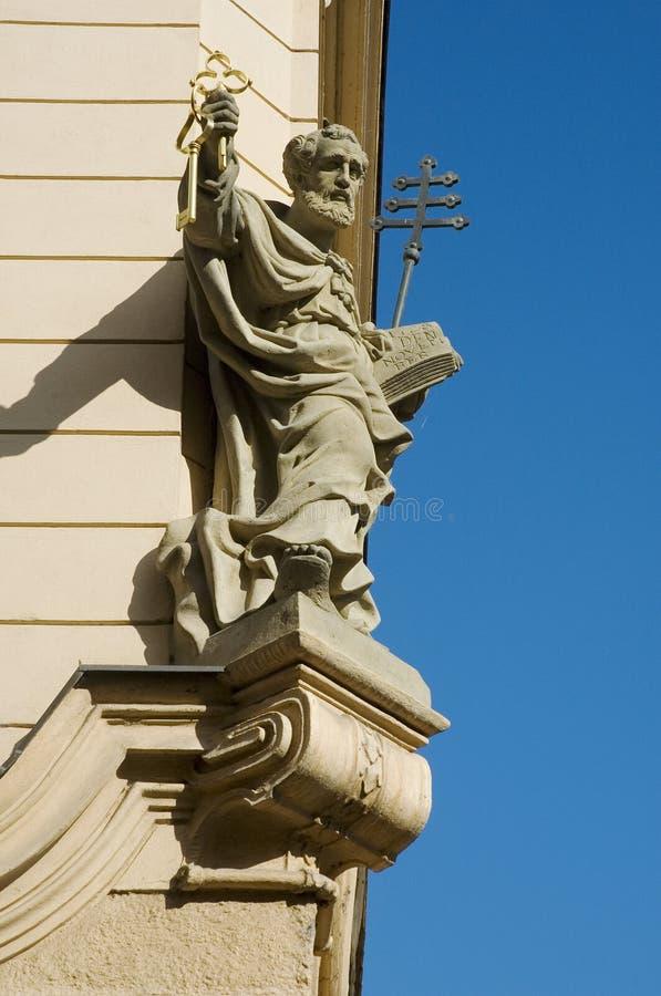 Prague Saint Peter stock photos