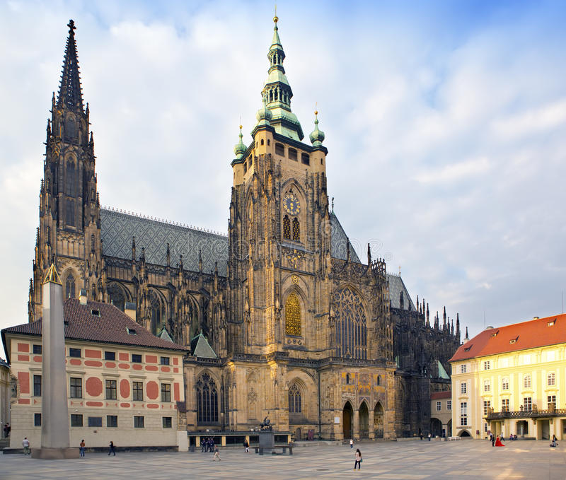 Prague. Saint Vitus cathedral stock photo