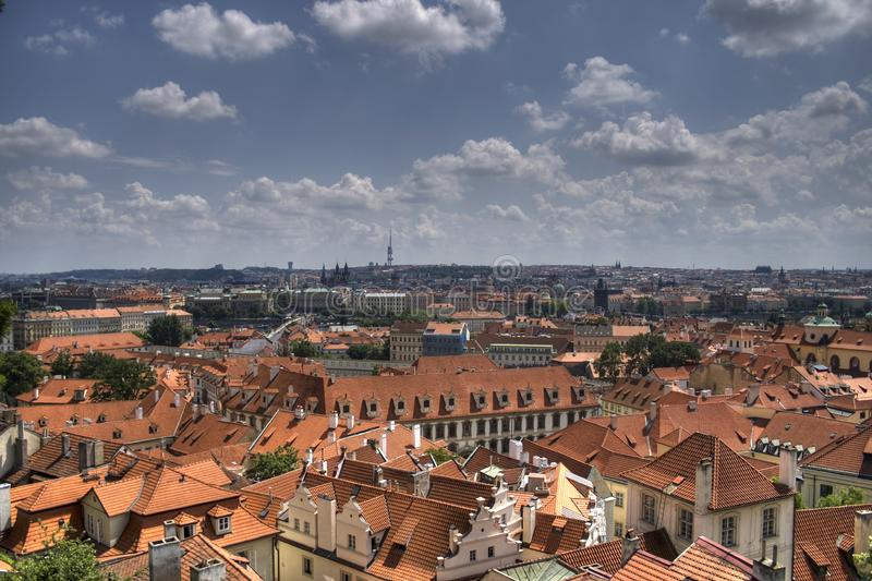Download Prague scenery stock image. Image of outlook, town, roofs - 8059939