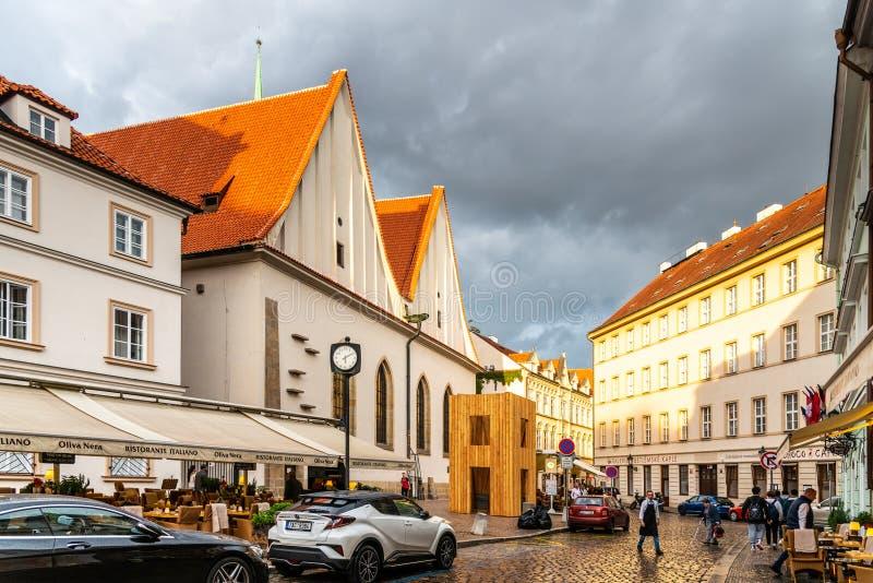 PRAGUE - SEPTEMBER 26, 2019: Bethlehem Chapel, Czech: Betlemska kaple, in Old Town of Prague, Czech Republic. PRAGUE - SEPTEMBER 26, 2019: Bethlehem Chapel royalty free stock photo