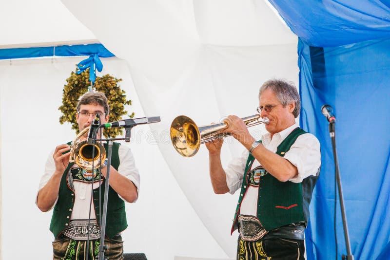 Prague, September 23, 2017: Celebrating the traditional German beer festival called Oktoberfest in the Czech Republic. Celebrating the traditional German beer stock photography
