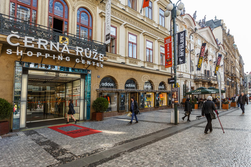 Prague shopping center cerna ruze editorial image image for Where is prague near