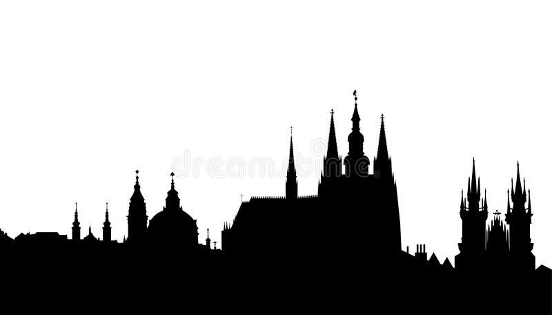Prague skyline - famous landmark -