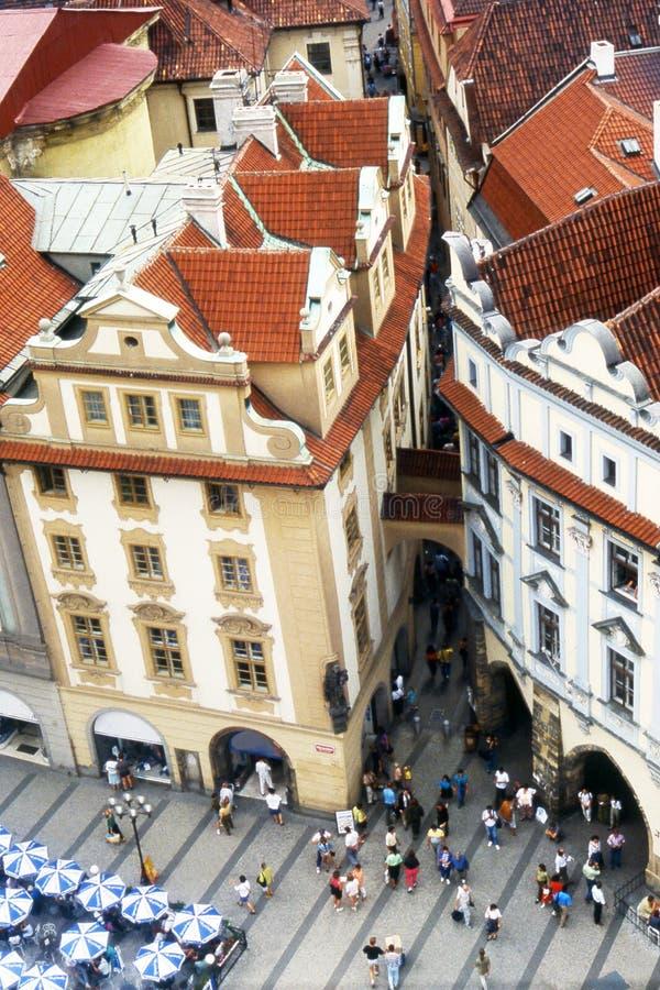 Prague square stock photo