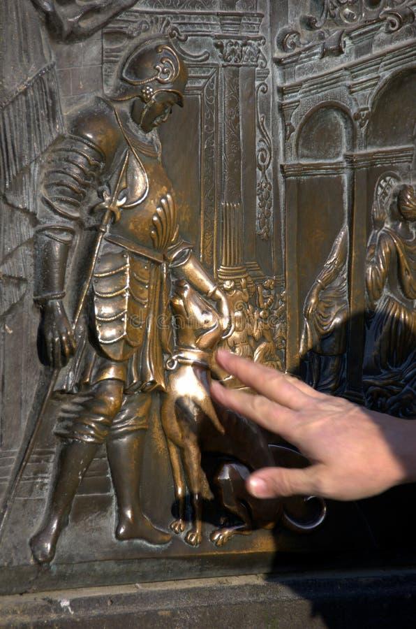 Prague,St John Nepomuk statue.