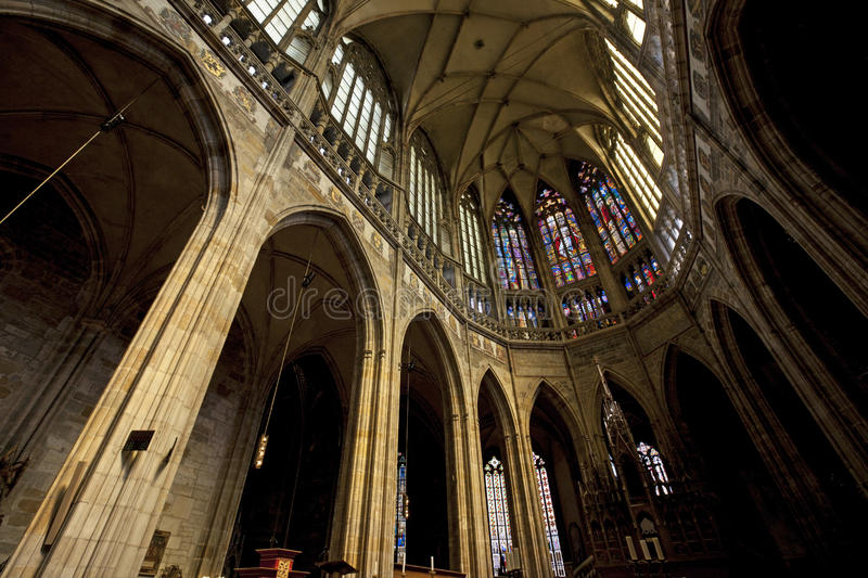Prague - St. Vitus Cathedral at Hradcany stock images