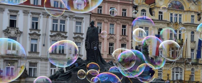 Prague stadfyrkant arkivfoto