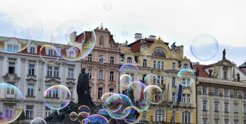 Prague stadfyrkant arkivbild