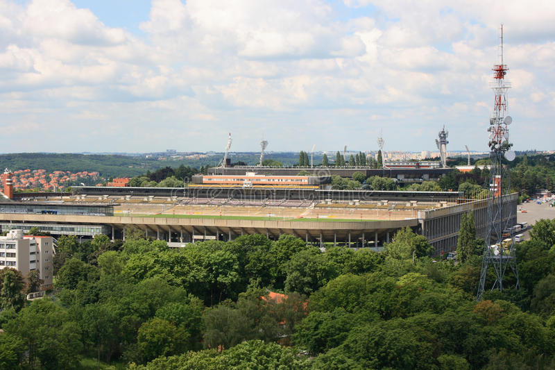 prague stadioner två royaltyfria foton