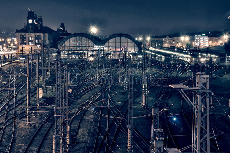 Prague - station de train centrale photos stock