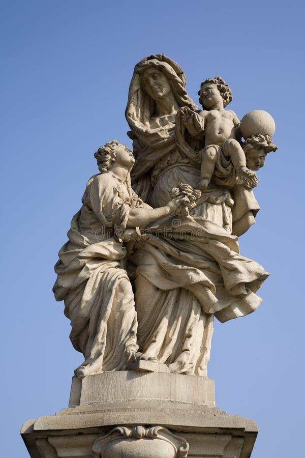 Download Prague - Statue Hl. Anne From Charles Bridge Stock Image - Image: 16362861