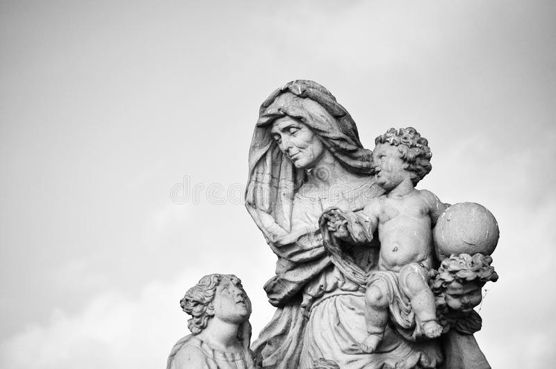 Download Prague - Statue Hl. Anne From Charles Bridge Stock Photo - Image: 24124766