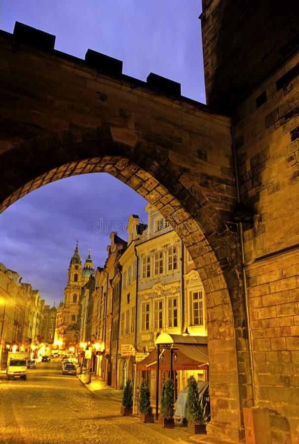 Prague Street- Czech Republic Stock Photo