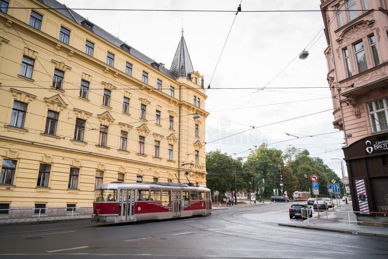Prague streetscape stock image