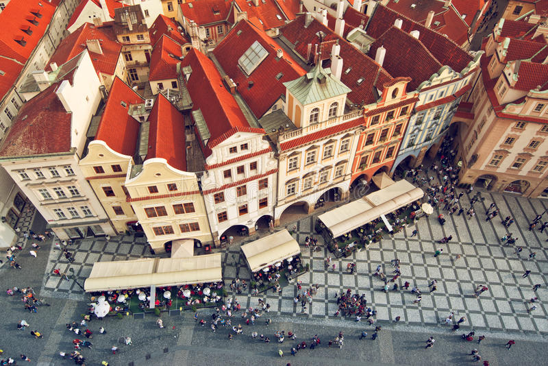 Prague tak royaltyfri bild