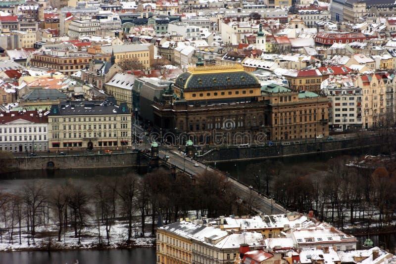 Prague theatre. A National theater at Prague, Czech republic stock photography