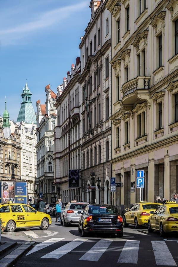PRAGUE TJECK REPUBLIC/EUROPE - SEPTEMBER 24: Sikt ner Maiselo arkivfoton