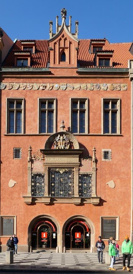 Prague Tourism Office, Czech Republic royalty free stock photo