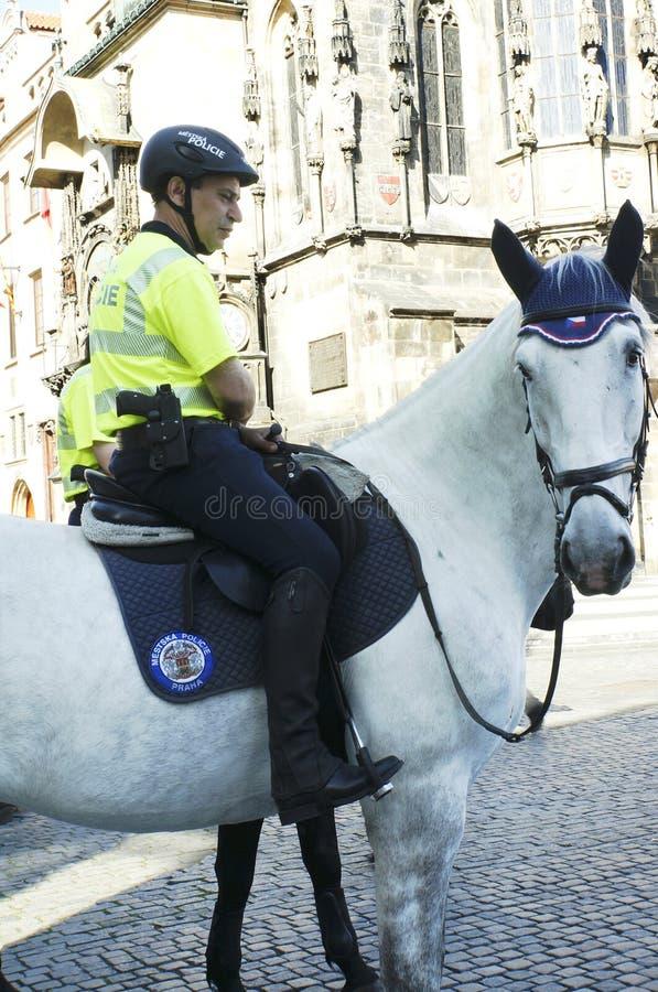Prague tourist Police royalty free stock photography