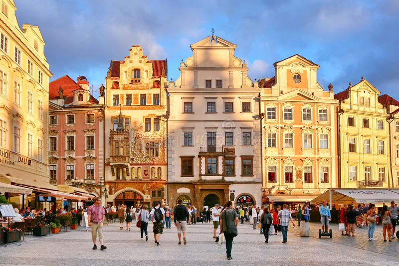 Prague. Touristic life, Czech Republic stock photos