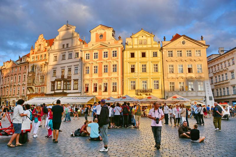 Prague. Touristic life, Czech Republic royalty free stock photo