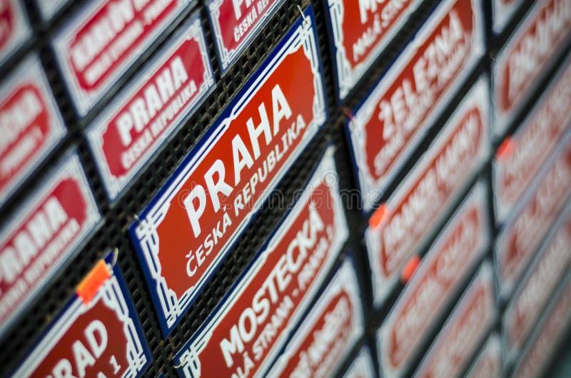 Download Prague Traditional Street Sign Souvenir Stock Photo - Image: 27982578