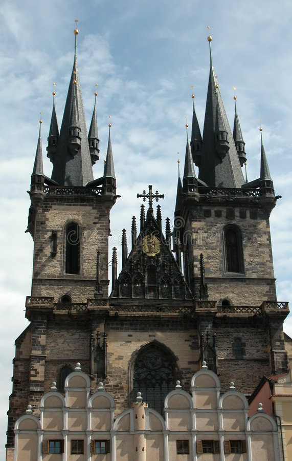 Download Prague Tyn Cathedral stock photo. Image of cathedral, monument - 945274