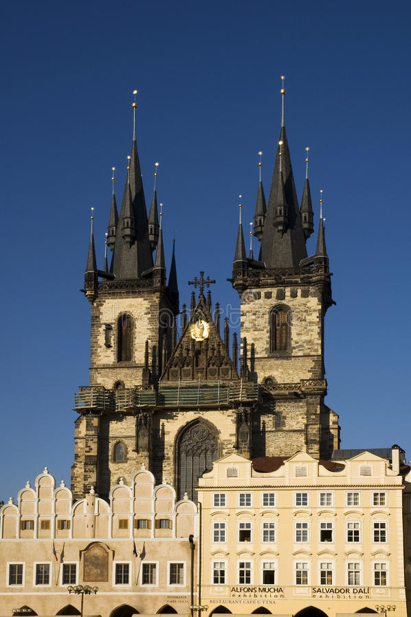 Prague - Tyn church stock photo