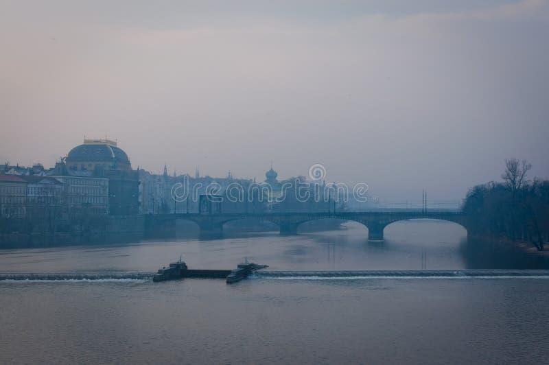 Download Prague under fog stock photo. Image of bohemia, landmark - 20013530