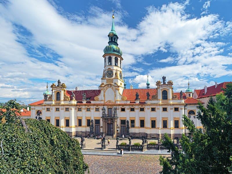 Prague vallfärdar stället Loreta royaltyfri bild