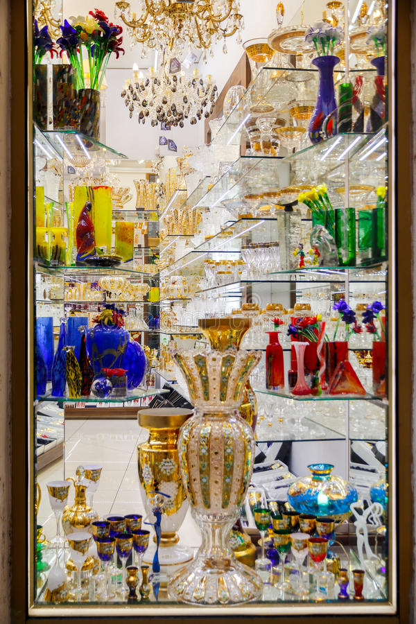 prague Verre de Bohème tchèque photo stock