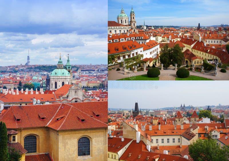 Prague view collage royalty free stock photos