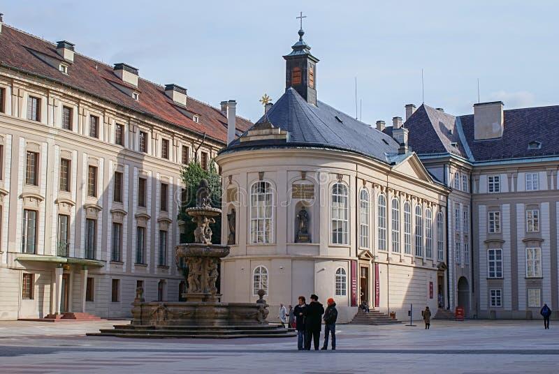 Prague Visit Tourist,  St. Saint Vitus Cathedral square, Czech Republic stock photos