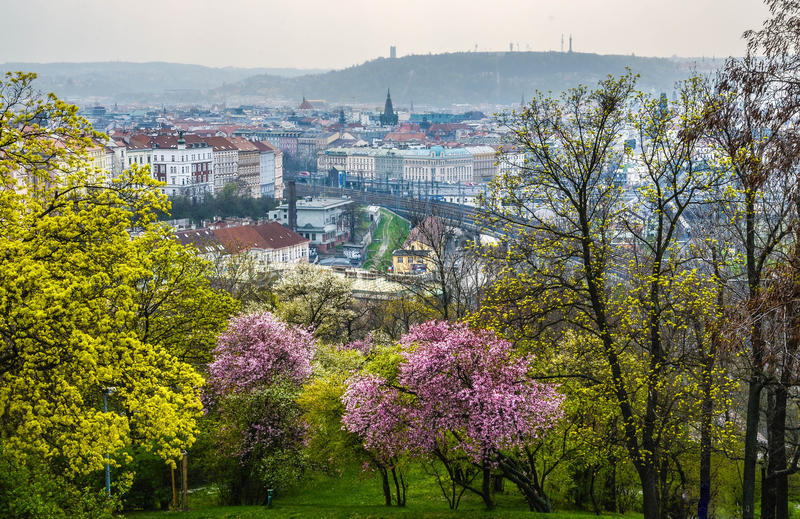 Prague- Vitkov stock photos