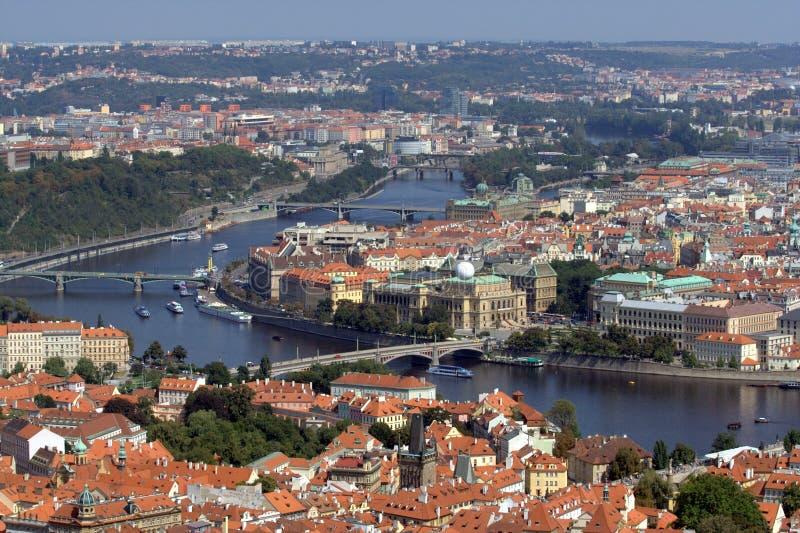Prague vu de la tour de PetÅÃn image stock