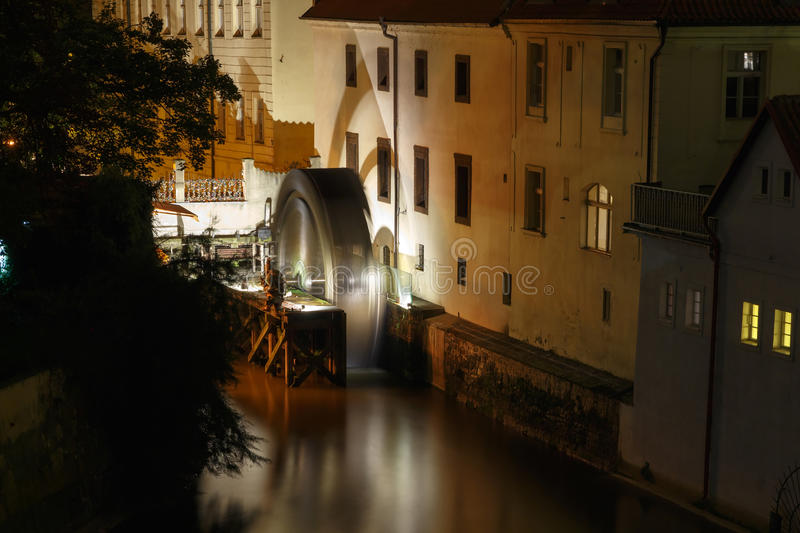 Prague. Water Mill. royalty free stock photography
