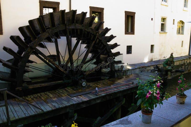 Prague, water mill stock photos