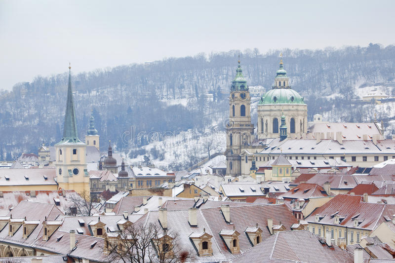 Download Prague in winter stock photo. Image of strana, europe - 12385898