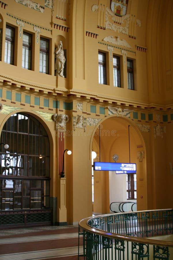 Praha Hlavni_historic kopuły sztuka obraz stock