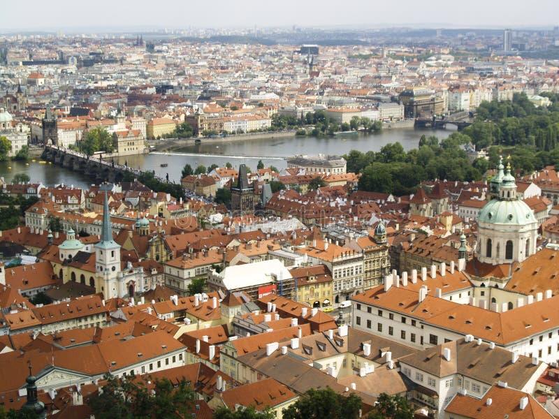 Praha panoramiczny widok zdjęcia stock