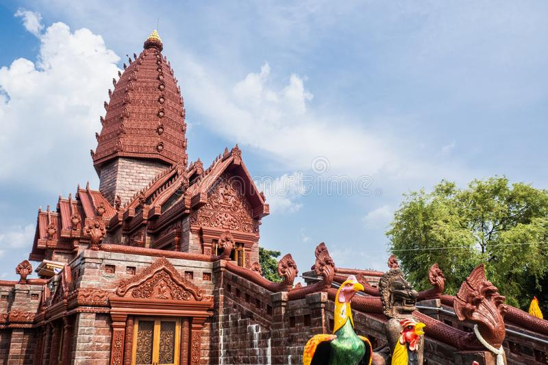 Prai Pattana temple in Phu Sing district, Si Sa Ket, Thailand. SI SA KET, THAILAND - APRIL26, 2019: Prai Pattana temple in Phu Sing district, Si Sa Ket royalty free stock image